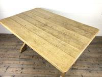 Solid Oak Table on X Frame Base (9 of 9)