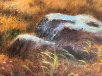 """Oil Painting Scottish Stags """"Denizens of the Highlands"""" Signed Wendy Reeves (15 of 45)"""