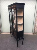 Antique Chinoiserie Lacquered Display Cabinet (6 of 9)