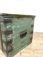 Distressed Painted Metal Bound Trunk (9 of 10)