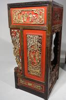 Quite Rare Pair of Late 19th Century Oriental Tall Stands (3 of 5)
