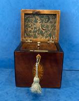 18th Century Harewood Inlaid Single Mahogany Tea Caddy (16 of 18)
