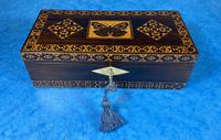 William IV Rosewood Glove Box with Superb Stickware & Tunbridge Ware Inlay (4 of 12)