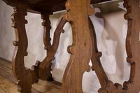 Charming 18th Century Italian Demi-Lune Lyre-Leg Fruitwood Table (6 of 13)