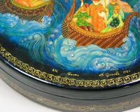 Antique Hand Painted Russian Lidded Box (8 of 9)