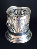 Silver Plate on Copper Reticulated Bottle Holder (3 of 5)
