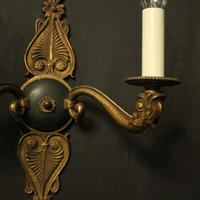 French Pair of Gilded Empire Antique Wall Lights (3 of 10)
