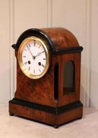 Small Victorian Burr Walnut Mantel Clock (5 of 10)