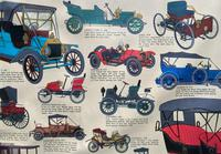 Intriguing Very Large 1960s Oak Framed Vintage Car Automotive Lithograph Poster (10 of 13)