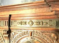 Victorian Carved Oak Secretaire Bookcase (3 of 25)