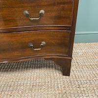 Edwardian Walnut Serpentine Antique Chest of Drawers (5 of 9)