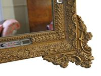 Antique Large Quality 19th Century Italian Gilt Wall Mirror Overmantle (3 of 8)