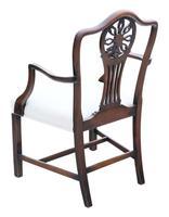 Set of 8 (6+2) Georgian Mahogany Dining Chairs c.1820 (5 of 10)