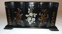 Victorian decorated papier mache tea caddy (6 of 6)