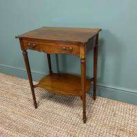 Small Edwardian Mahogany Antique Side Table (4 of 5)