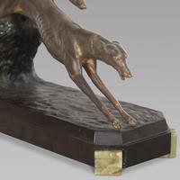 Charles Charles French Art Deco Bronze Two Greyhounds (4 of 6)
