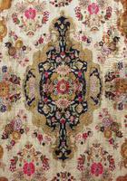 Antique Kashmir Silk Carpet (7 of 8)
