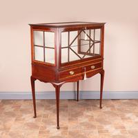 Inlaid Mahogany Display Cabinet (7 of 12)