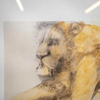 Lithograph of Recumbent Lion (5 of 6)