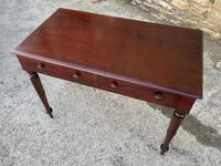 Antique Victorian Mahogany Two Drawer Side Table (20 of 20)