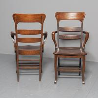 Rare Antique Set of 34 American Oak Chairs (6 of 15)