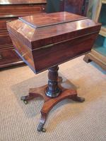 Fine Regency Period Rosewood Teapoy (12 of 12)