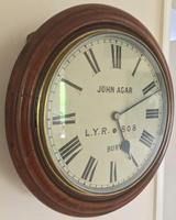 Eight Day Rare High Quality Lancs / Yorks Railway Clock (3 of 12)