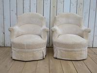 Pair of Antique French Tub Armchairs (3 of 9)