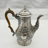 George IV Sterling Silver Coffee Pot London 1824 Timothy Smith & Thomas Merryweather (2 of 12)