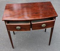 1900's Mahogany Bow Side Table with Drawer (2 of 4)