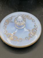 Antique Opaline Glass Covered Bowl / Bombonierre for Turkish Market / Persian Market (3 of 3)
