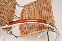 1970's Vintage Rattan & Chrome Rocking Chair (9 of 12)