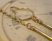 Vintage Pocket Watch 1940s Long 12ct Rolled Gold Snake Link Albert With Button Clip (7 of 12)
