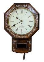 Wonderful 1852 Welsh Drop Dial Fusee Wall Timepiece by Thomas Edwards (6 of 10)