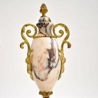 Pair of Antique French Marble & Gilt Bronze Urns (4 of 9)