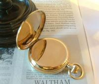 Antique Pocket Watch 1909 Waltham USA 7 Jewel 10ct Gold Filled Fwo (7 of 11)