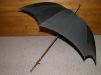 "Antique Indian Silver Black Canopy Umbrella by ""Kendall - England"" (6 of 11)"
