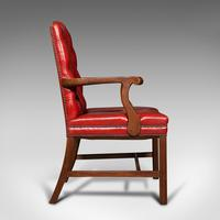 Set Of 10 Antique Gainsborough Chairs, English, Leather, Carver, Edwardian, 1910 (4 of 12)