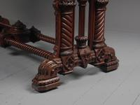 Carved Oak Serving Table Attributed to Pugin (9 of 17)
