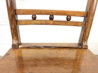 Harlequin Set of 19th Century Welsh Oak Ball & Rail Back Chairs (4 of 11)