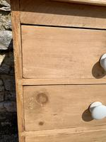 Antique Victorian Stripped Pine Chest of Drawers (10 of 15)