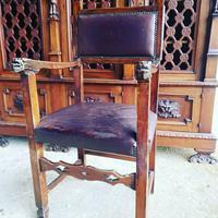 Italian Neo Renaissance Desk, Study Furniture Gothic (10 of 10)
