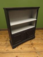 Black Painted Bookcase Cabinet with small cupboard, Gothic Shabby Chic (4 of 18)