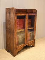 Small Proportioned Oak Glazed Bookcase (10 of 11)