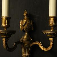 French Pair of Bronze Antique Wall Lights (3 of 10)