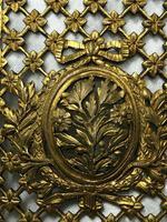 19th Century Antique Regency Gilt Bronze Coat of Arms Sunflower Acanthus Plaque (2 of 12)