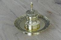 Fine 19th Century Brass Inkwell in the Bright Pavilion Style (2 of 7)