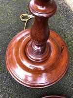 Pair of Antique Mahogany Floor Standard Lamps (7 of 8)