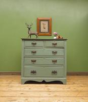 Antique Gustavian Style Blue Painted Chest of Drawers (17 of 18)