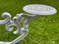 Victorian 19th Century Garden Cast Iron Painted White 6 Branch Plant Stand (13 of 47)
